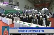 哈尔滨市首台风力发电机组下线