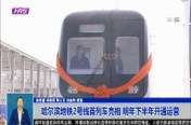 哈尔滨地铁2号线首列车亮相 明年下半年开通运营