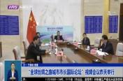 """""""全球丝绸之路城市市长国际论坛""""视频会议昨天举行"""