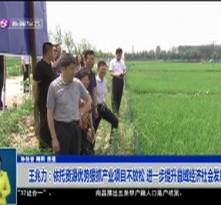 王兆力:依托资源优势狠抓产业项目不放松 进一步提升县域经济社会发展水平