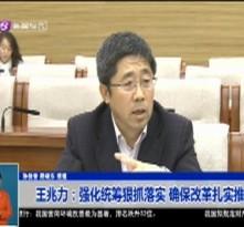王兆力:强化统筹狠抓落实 确保改革扎实推进