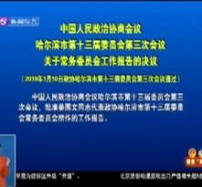 中国人民政治协商会议哈尔滨市第十三届委员会第三次会议关于常务委员会工作报告的决议