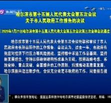 哈尔滨市第十五届人民代表大会第五次会议关于市人民政府工作报告的决议