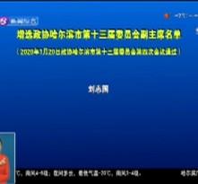 增选政协哈尔滨市第十三届委员会副主席名单