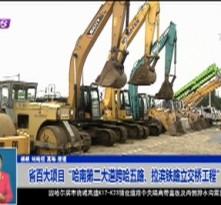 """省百大项目""""哈南第二大道跨哈五路、拉滨铁路立交桥工程""""开工"""