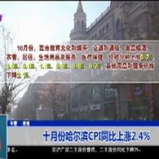 十月份哈尔滨CPI同比上涨2.4%