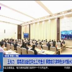 王兆力:提高政治站位突出工作重点 探索哈尔滨特色乡村振兴发展新路