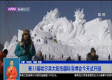 第33届哈尔滨太阳岛国际雪博会今天试开园