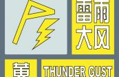 哈尔滨市气象台发布雷雨大风黄色预警信号