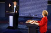 民调:美大选举行首场电视辩论 希拉里占上风