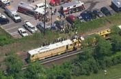 美国纽约长岛发生列车脱轨事故 人员伤亡情况不详