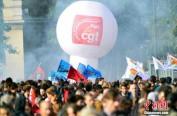 全法爆发反劳动法改革游行 马克龙首次面对街头抗争