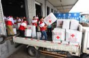 温暖送到家 650个赈济包运往受灾地区