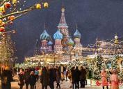 新年将至 莫斯科红场节日气氛浓郁