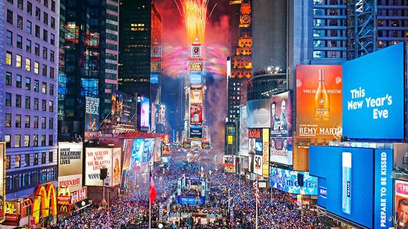 纽约警方严阵以待 预防时代广场跨年夜发生恐袭