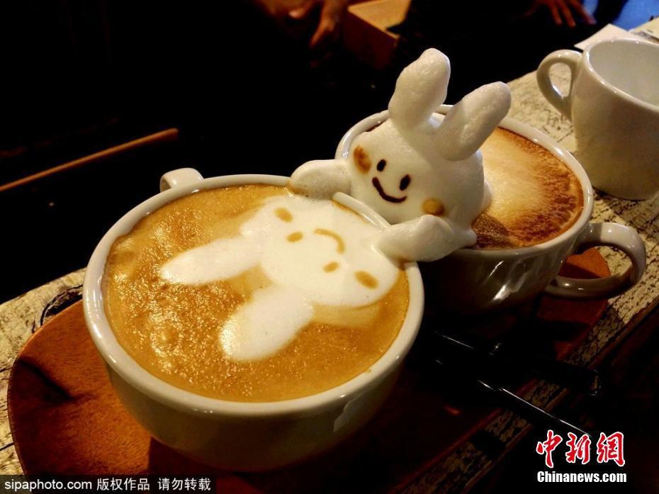 日本超萌3D咖啡拉花 可爱到令人难以入口