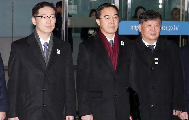 韩方代表启程参加韩朝高级别会谈