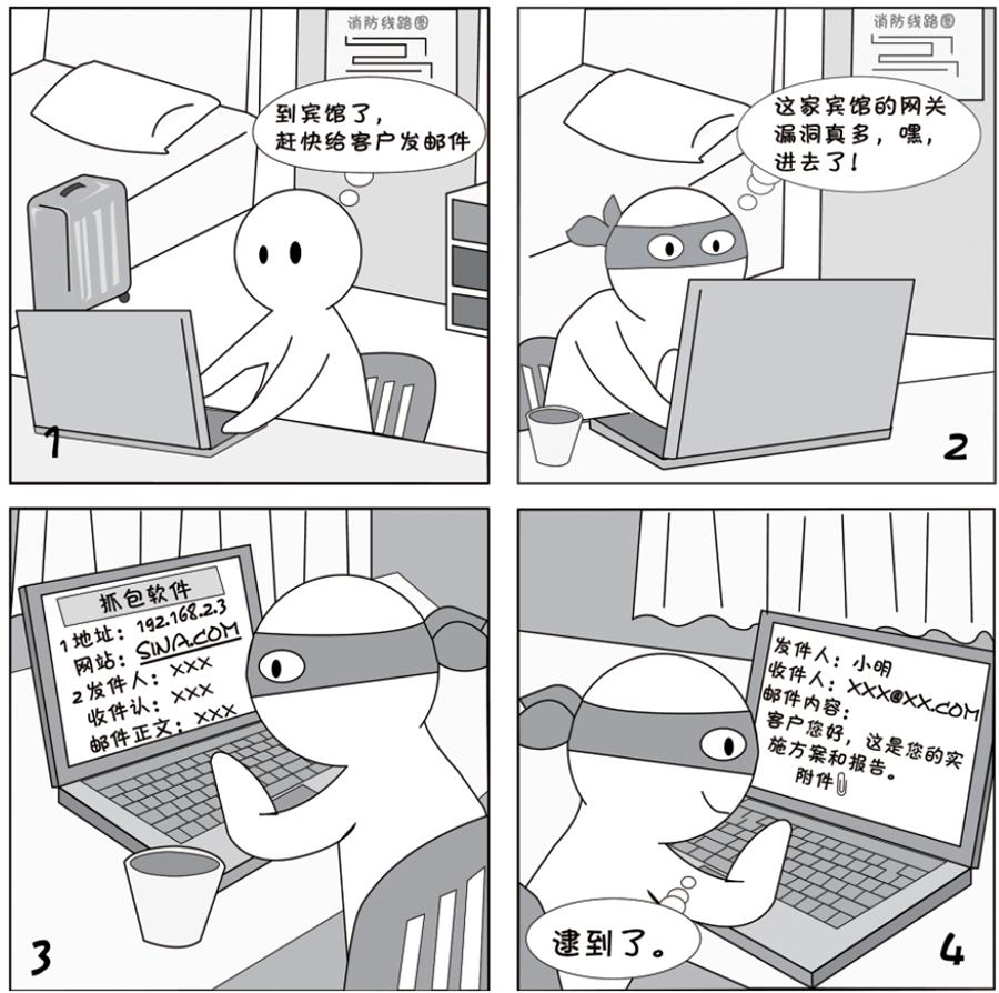 2018国家网络安全宣传周系列漫画②丨不止仿冒、钓鱼、黑客入侵,邮件安全还得避开这些坑