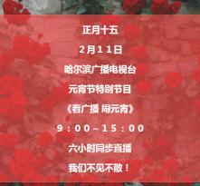 【蓝网直播】哈广电出品,必属精品!看广播,闹元宵,我们一起high翻天!