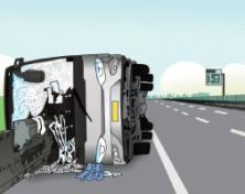 超速行驶酿大祸 杜绝超速保平安