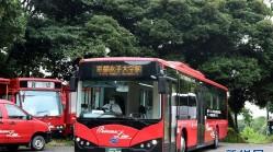 日本京都街头的中国电动巴士