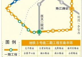 地铁3号线二期11座车站封顶