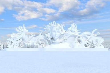 """제29회 눈 박람회 12월 22일 개막, 메인 조각 """"겨울·연가"""" 조각 작업 시작"""