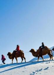 中 가장 가뭄이 심한 지역에 내린 첫눈, 사막과 눈의 환상적인 경치