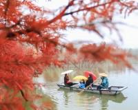 장쑤 쉬이현 톈취안후, 그림 속을 지나는 듯한 매혹적인 풍경