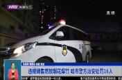 违规销售燃放烟花爆竹 哈市警方治安处罚16人