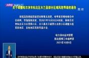 关于调整永利体育app下载市松北区木兰县部分区域风险等级的通告