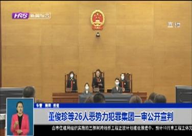 董俊珍等26人恶势力犯罪集团一审公开宣判