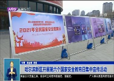 哈尔滨新区开展第六个国家安全教育日集中宣传活动