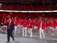 """独家视频丨""""中国红""""来了!奥运会中国体育代表团入场"""