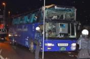 日本大巴司机迷路着急 车撞高架致25中国游客伤